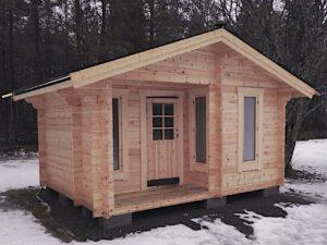Bastustuga 14 med 2,4 m² altan, 6 m² basturum och 5,6 m² relaxrum