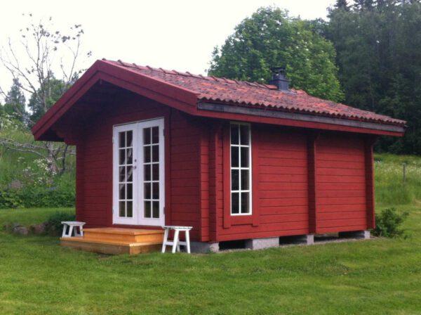 Bastustuga 15 relax med förstärkt tak för tegel
