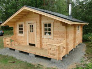 Bastustuga 20 med 4,5 m² basturum, 12,5 m² relaxrum och 3 m² omklädningsrum