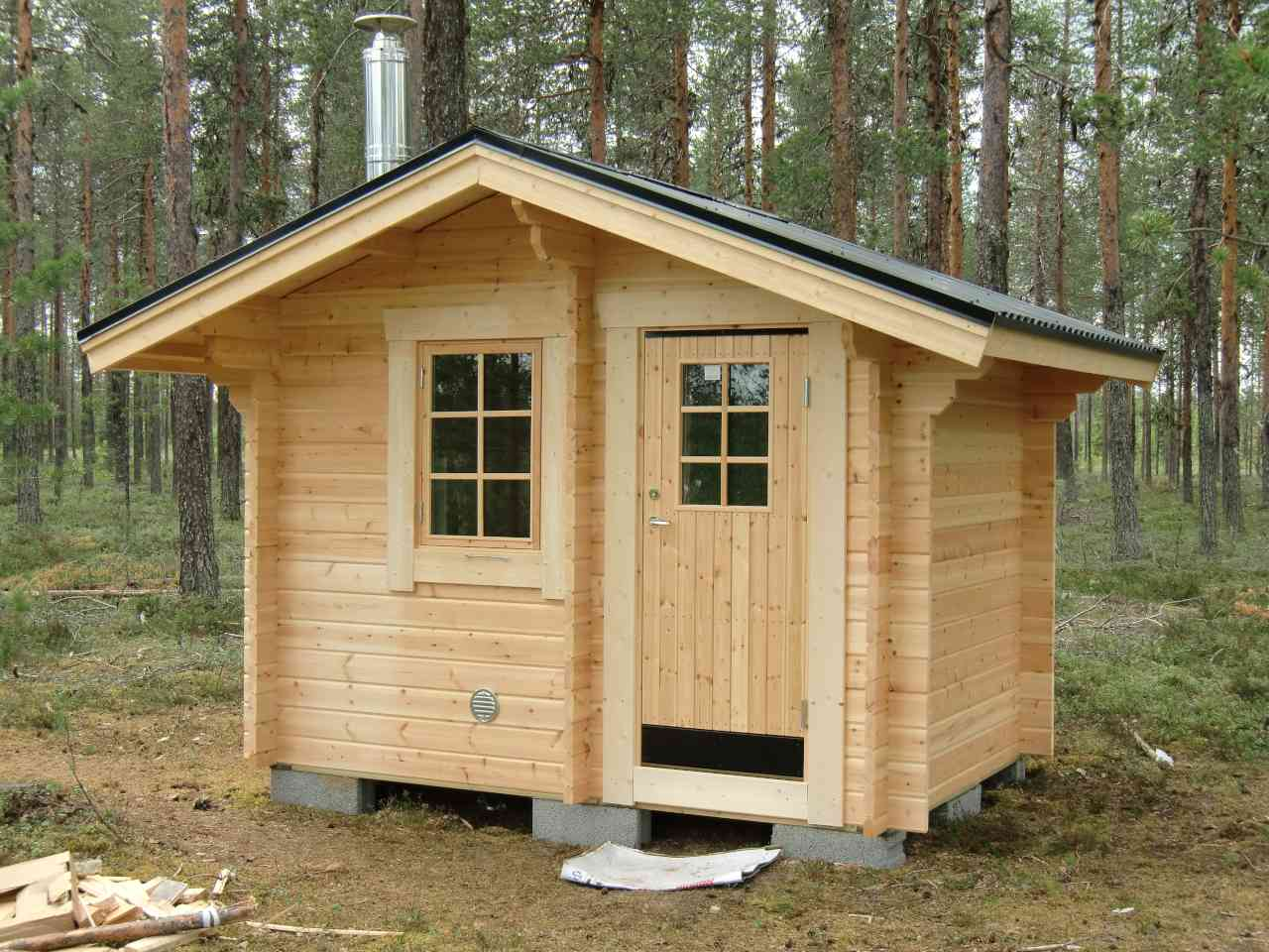 Bastustuga 6 med 3,7 m² stort basturum och 2,7 m² stort relaxrum