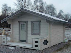 Friggeboda 15 m² med tillval 1 m altan