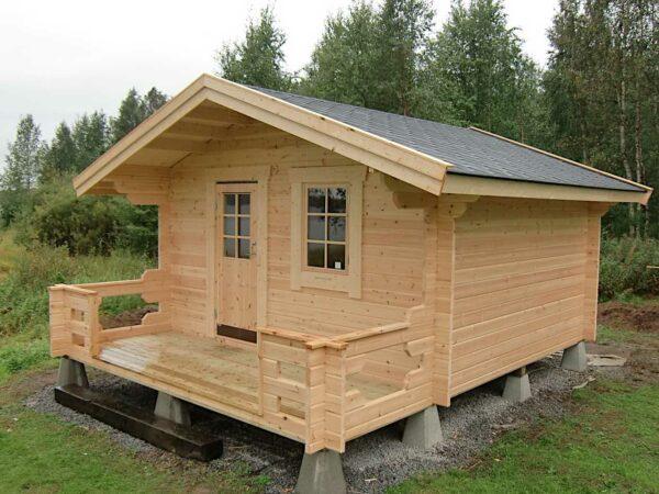 Friggeboda 15 m² med tillval 1 m altan samt ytterdörr och 2 fönster