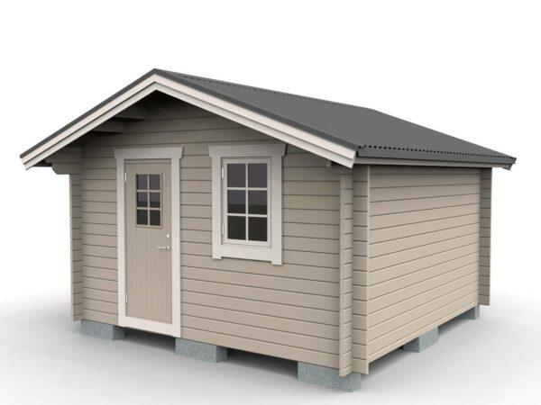 Friggeboda 15 m² traditionell med dörr och ett fönster