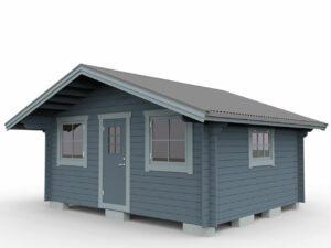 Attefallstuga 20 m² med ett rum, ytterdörr och 3 st fönster