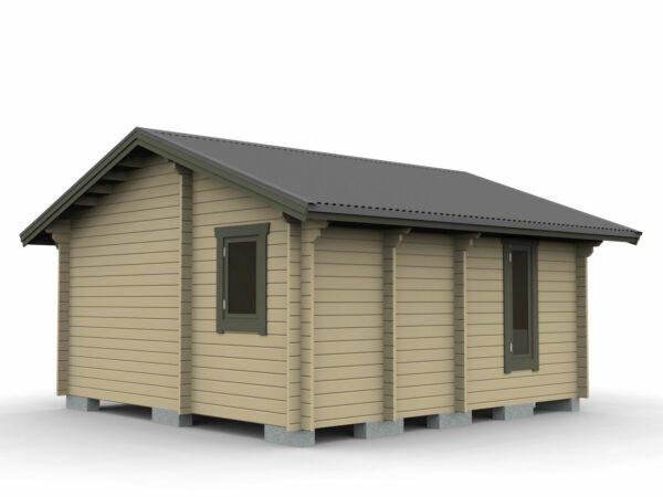 Attefallstuga 25 m² med 3 rum