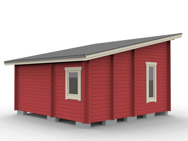 Attefallstuga 25 m² funkismodell med 3 rum