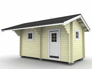 Bastustuga 11 med 5,5 m² stort basturum och 5,5 m² stort relaxrum