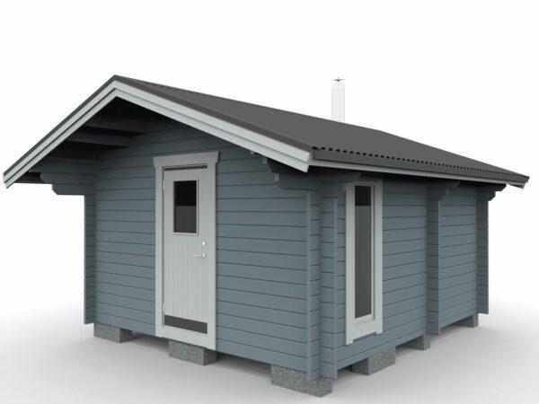 Bastustuga 15 relax med två rum och enkeldörr