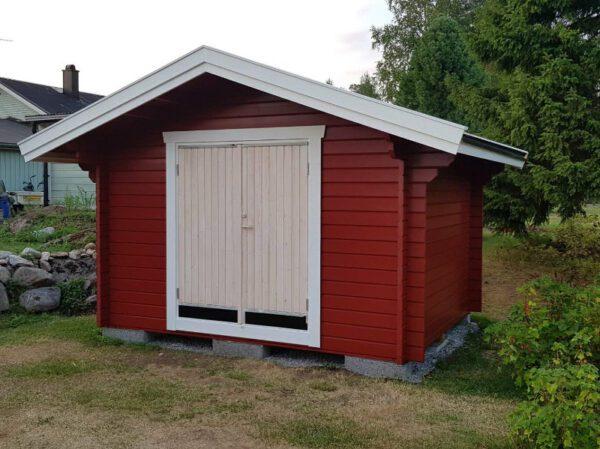 Uteförråd 10 m² med pardörr 1590x1890 mm