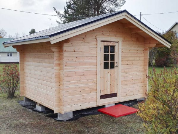 Förråd 10 m² med enkeldörr 790x1890 mm