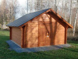 Lada15 m² med pardörr typ bräddörrar