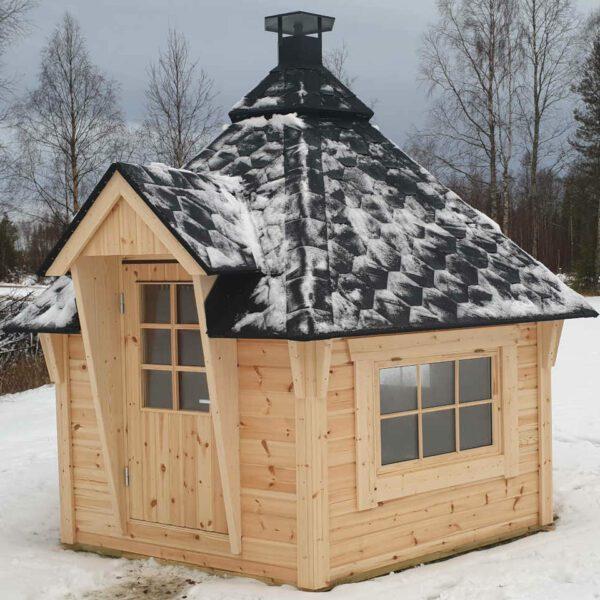 Grillstuga Vildmark med 3 st fönster
