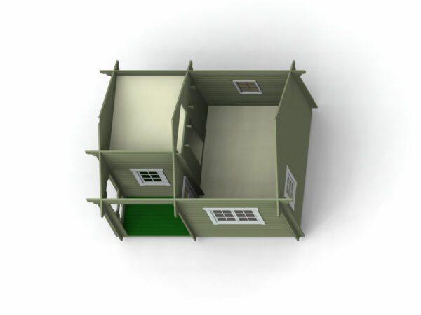 Loftstuga 21 m2 invändigt bild 4