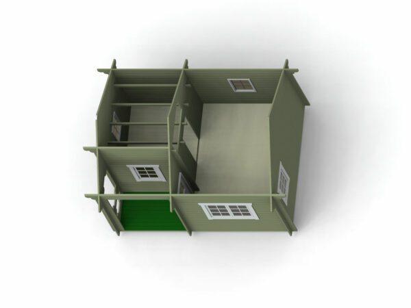 Loftstuga 21 m2 invändigt bild 3