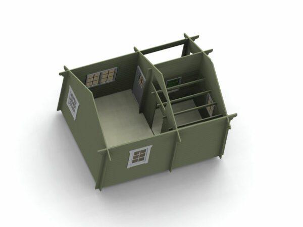 Loftstuga 21 m2 invändigt bild 2