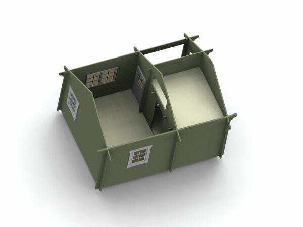 Loftstuga 21 m2 invändigt bild 1