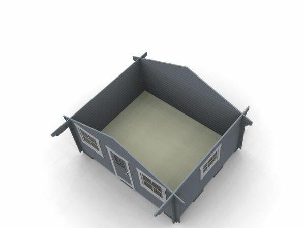 Attefallstuga 20 m² med 1 rum och 3 st fönster