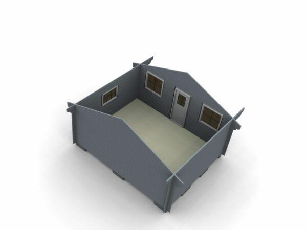 Attefallstuga 20 m² invändiga utrymmen