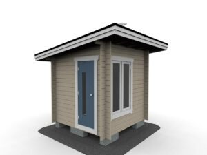 Bastustuga 5 funkis med 2 fönster och bastudörr