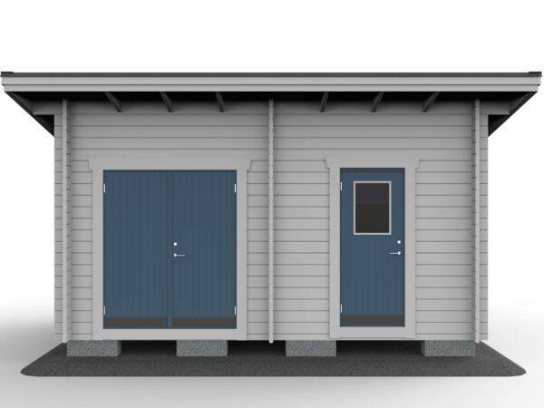 Förråd 15_2 funkis med pardörr och enkeldörr